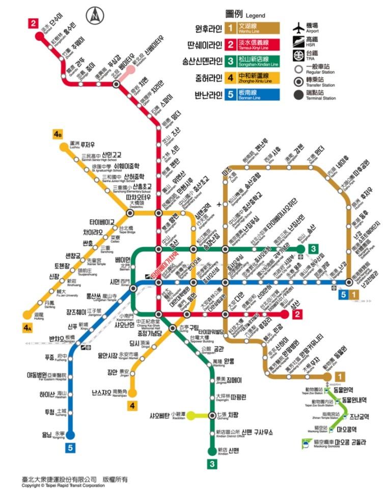 대만지하철+한글노선도.JPG